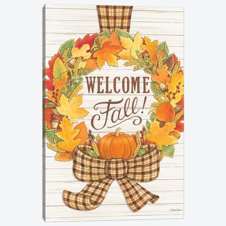 Welcome Fall Wreath Canvas Print #DBS7} by Deb Strain Canvas Print