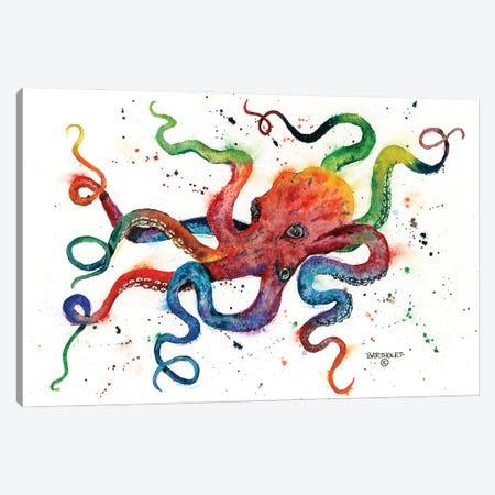 Rainbow Octopus Canvas Print #DBT14} by Dave Bartholet Canvas Art