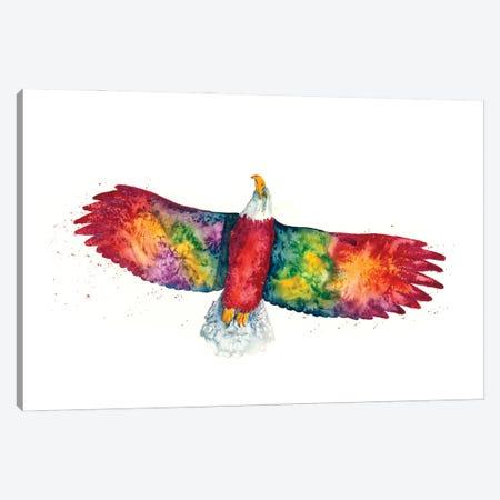 Rainbow Eagle Canvas Print #DBT1} by Dave Bartholet Art Print