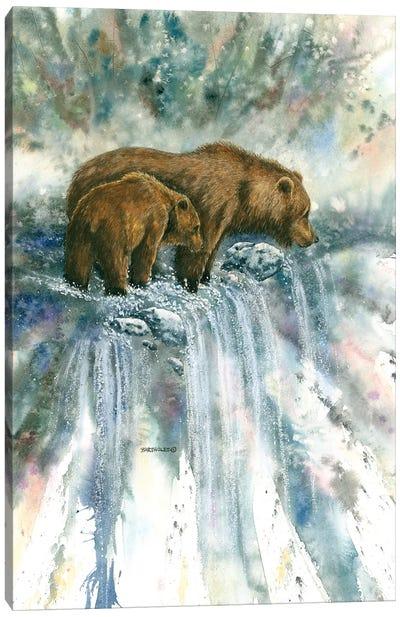 Bear Pause Canvas Art Print