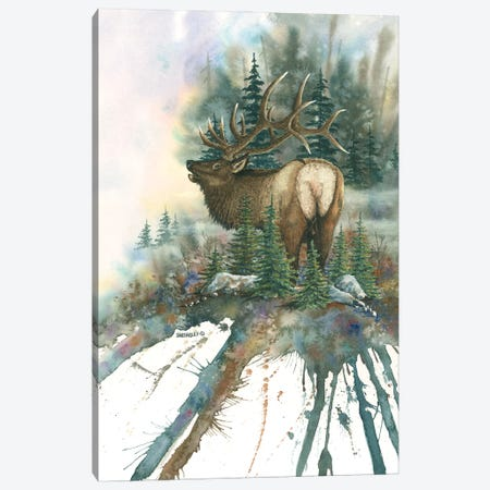 Christmas Tree Bull Canvas Print #DBT41} by Dave Bartholet Canvas Art