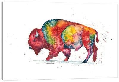 Rainbow Bison Canvas Art Print