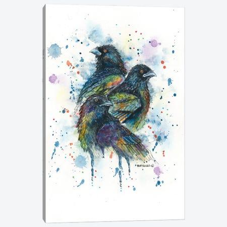 Raven Trio Canvas Print #DBT62} by Dave Bartholet Canvas Art