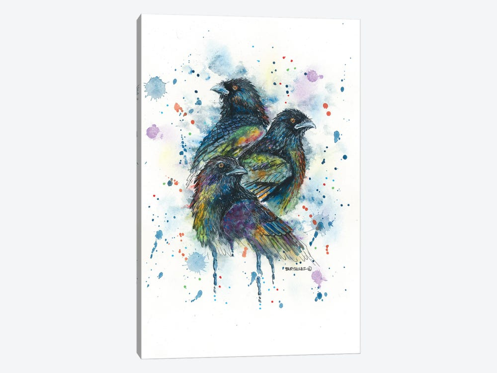 Raven Trio by Dave Bartholet 1-piece Canvas Art Print