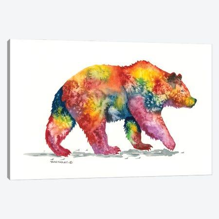 Rainbow Grizz Canvas Print #DBT7} by Dave Bartholet Canvas Art