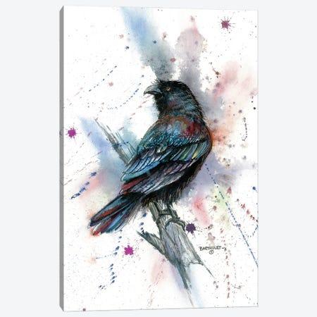 Stylized Raven Canvas Print #DBT85} by Dave Bartholet Canvas Art Print