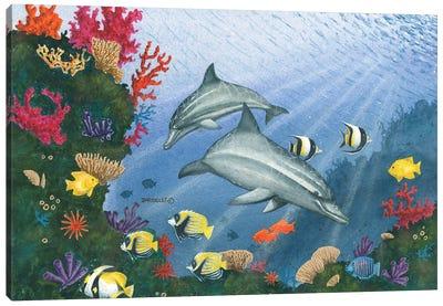 Dolphin Fun Canvas Art Print