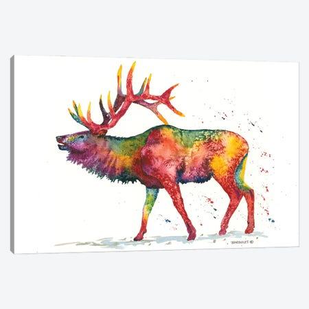 Rainbow Wapiti Canvas Print #DBT8} by Dave Bartholet Canvas Print