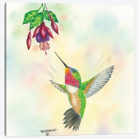 Ruby Gem Canvas Print #DBT99} by Dave Bartholet Canvas Art Print