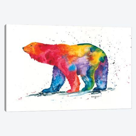 Rainbow Polar Bear Canvas Print #DBT9} by Dave Bartholet Art Print