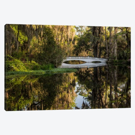 Long White Bridge Canvas Print #DBU5} by Daniel Burt Art Print
