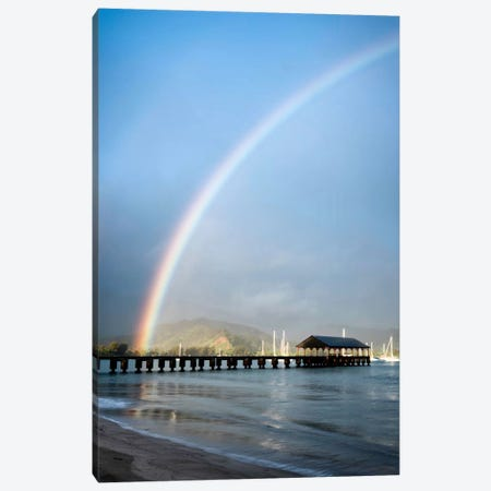 Rainbows At Hanalei II Canvas Print #DBU7} by Daniel Burt Canvas Print