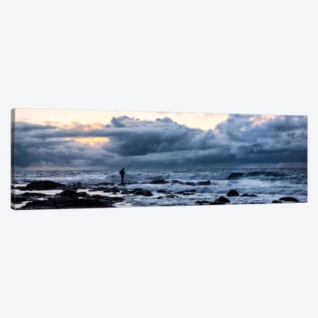 Surf Fishing Canvas Print #DBU8} by Daniel Burt Canvas Wall Art