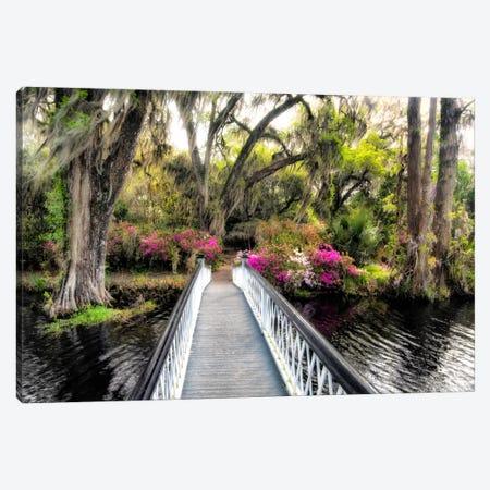 The Garden Bridge Canvas Print #DBU9} by Daniel Burt Canvas Artwork