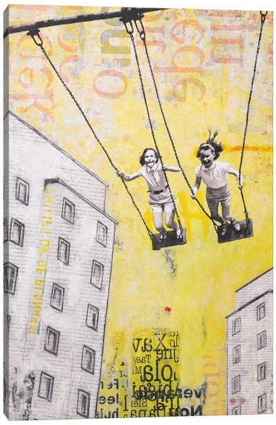 Sunday Swing Canvas Art Print