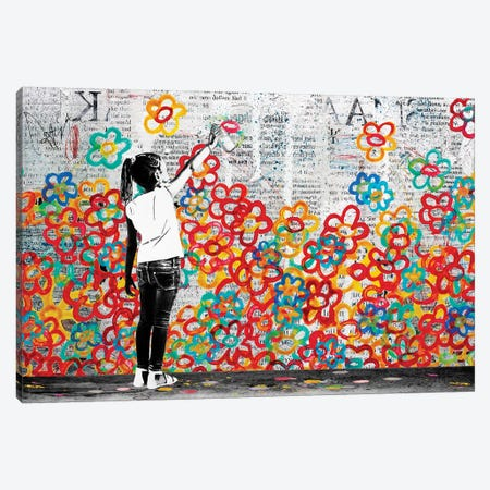 Flower Power Canvas Print #DBW113} by DB Waterman Canvas Art Print
