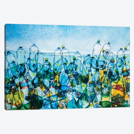 Message In A Bottle Canvas Print #DBW114} by DB Waterman Canvas Artwork