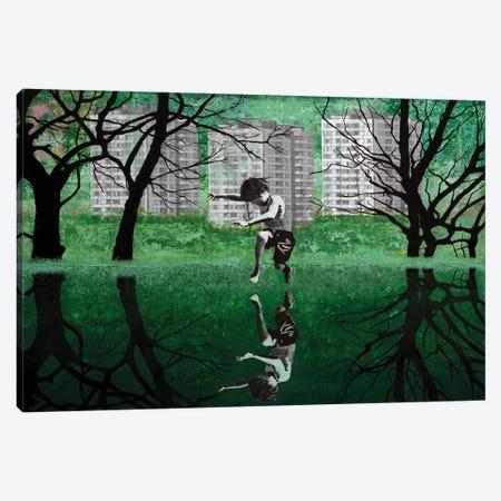 The Green Pond Canvas Print #DBW124} by DB Waterman Canvas Art Print