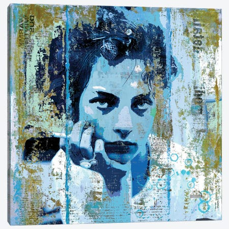 Blue Monday Canvas Print #DBW125} by DB Waterman Canvas Art Print