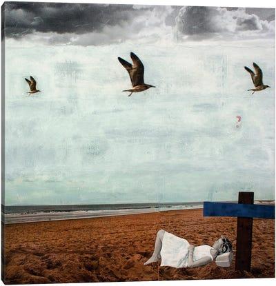 Grey Summer Breeze Canvas Print #DBW16