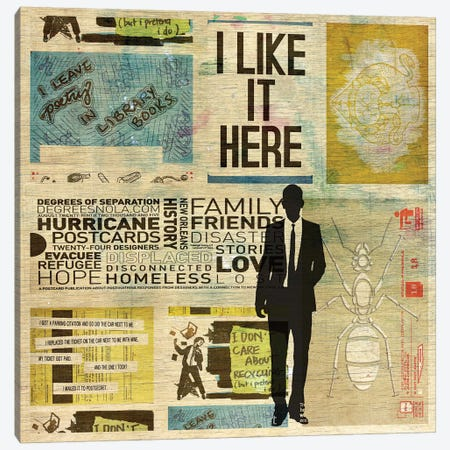 I Like It Here Canvas Print #DBW19} by DB Waterman Canvas Art
