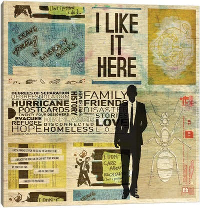 I Like It Here Canvas Art Print