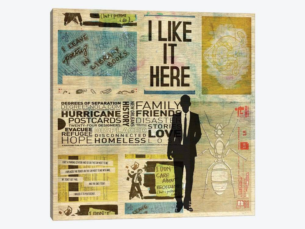 I Like It Here by db Waterman 1-piece Canvas Art Print