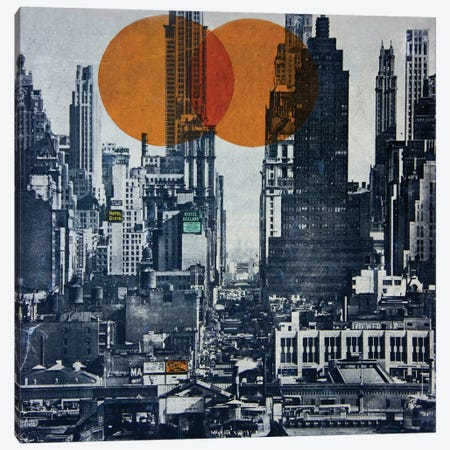 New York Skyline 1948 Canvas Print #DBW24} by DB Waterman Canvas Art