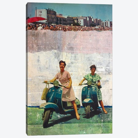 The Sweet Past 3-Piece Canvas #DBW36} by DB Waterman Canvas Art Print