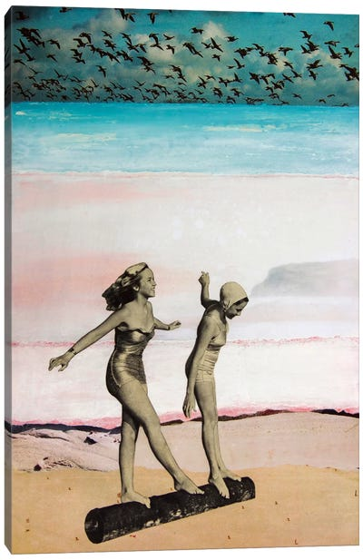 Beach Girls Canvas Art Print