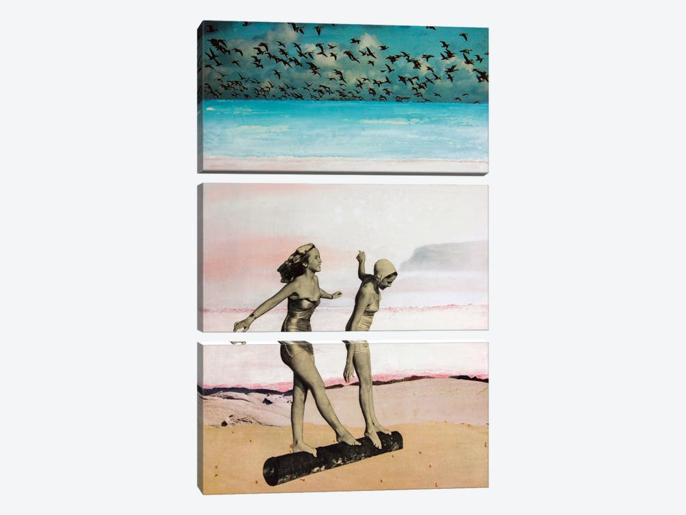 Beach Girls by db Waterman 3-piece Canvas Art