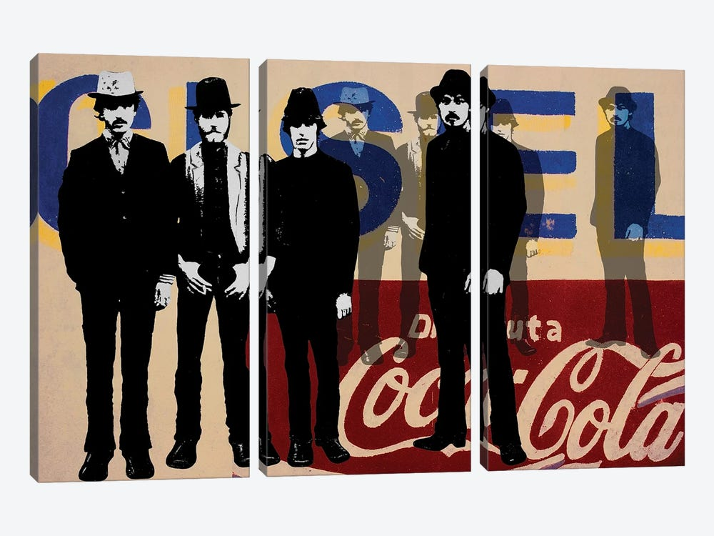Gang Of Four by DB Waterman 3-piece Canvas Art