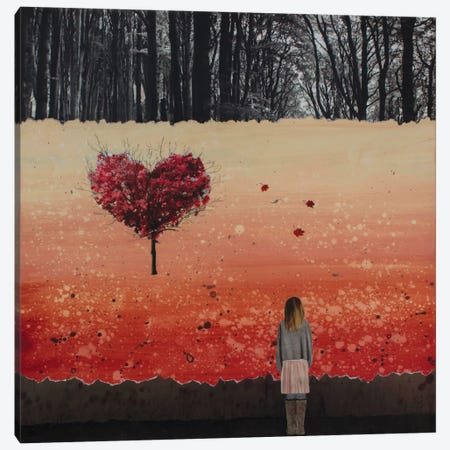 Fall In Love Canvas Print #DBW47} by DB Waterman Canvas Artwork