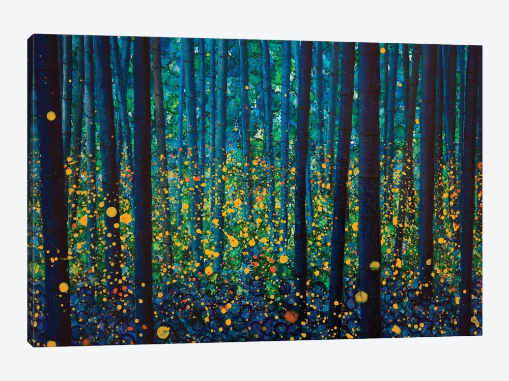 Fireflies by db Waterman 1-piece Canvas Art Print