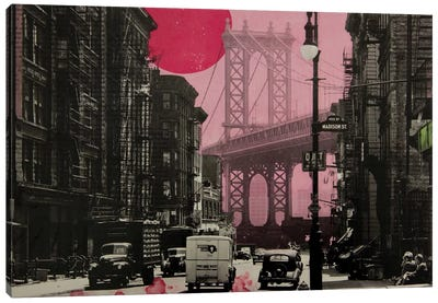 Pink Haze Canvas Print #DBW51