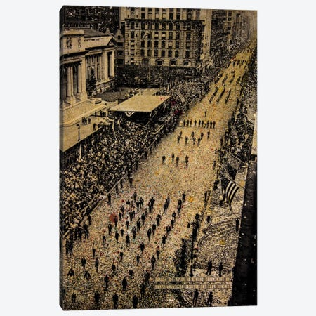 Fifth Avenue, 65,000 Marchers Canvas Print #DBW59} by DB Waterman Canvas Art