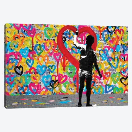 Hearts Canvas Print #DBW61} by DB Waterman Art Print