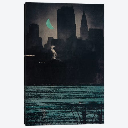 Hudson By Night Canvas Print #DBW70} by DB Waterman Canvas Art