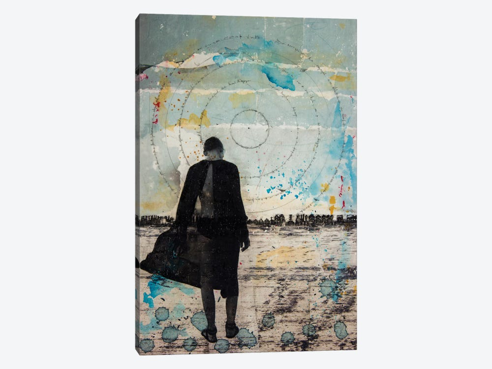 Girl Wandering by DB Waterman 1-piece Canvas Art Print