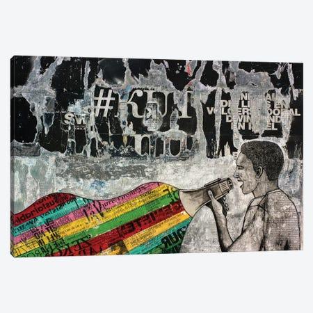 Colored Language Canvas Print #DBW93} by DB Waterman Canvas Art