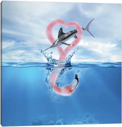 Flamingo Fish Canvas Art Print