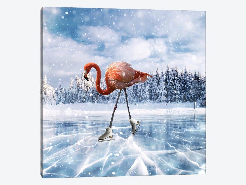 Flamingos On Ice by Dmitry Biryukov 1-piece Canvas Art Print