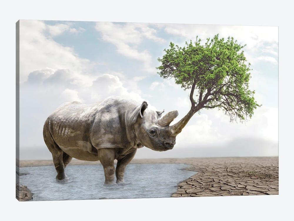Rhino Tree by Dmitry Biryukov 1-piece Canvas Art Print