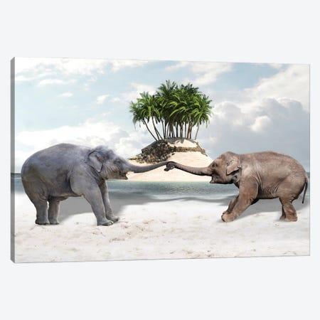 Elephants Canvas Print #DBY26} by Dmitry Biryukov Canvas Art