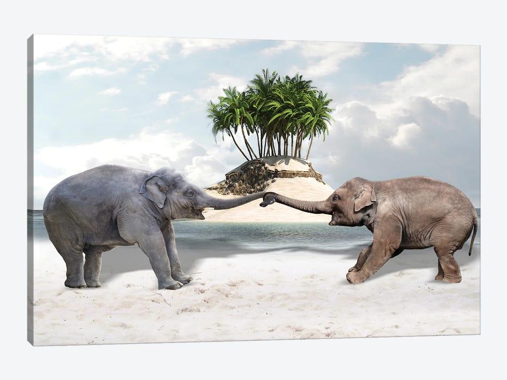 Elephants by Dmitry Biryukov 1-piece Canvas Wall Art