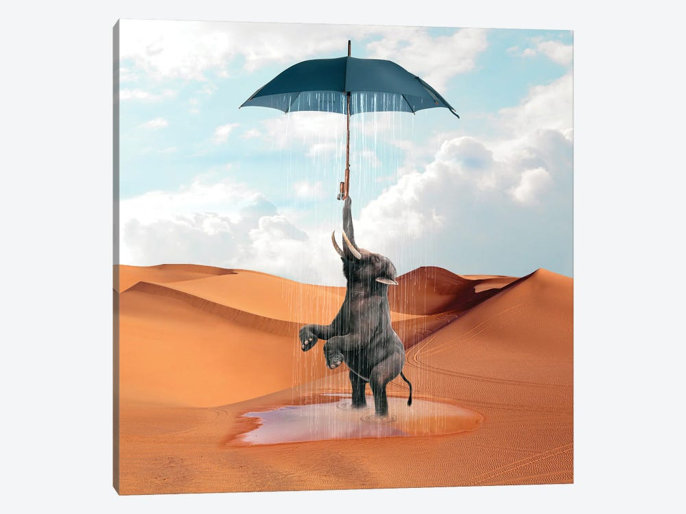 Elephant Desert by Dmitry Biryukov 1-piece Art Print
