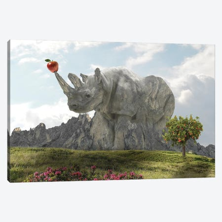 Rhino Rock Canvas Print #DBY34} by Dmitry Biryukov Canvas Art Print