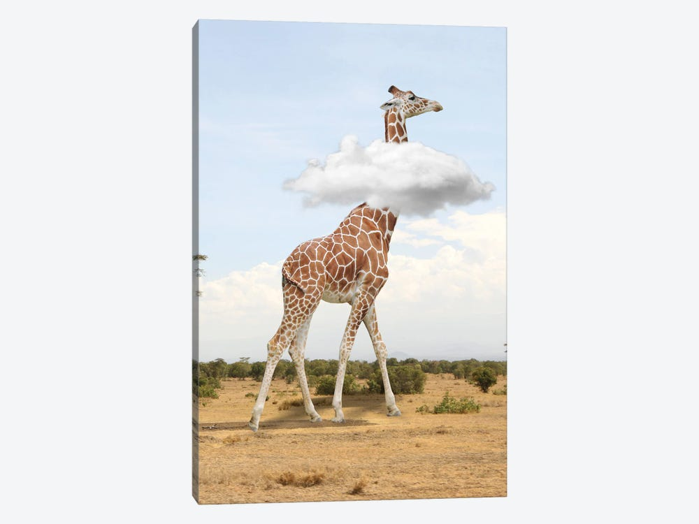 Giraffe In The Clouds by Dmitry Biryukov 1-piece Canvas Art