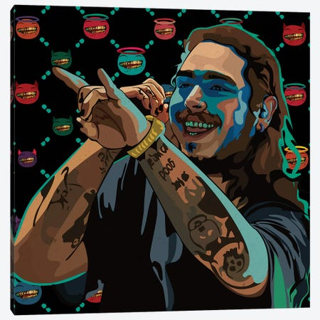 Posty I Canvas Print #DCA101} by Dai Chris Art Canvas Art Print