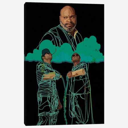 RIP Uncle Phil  Canvas Print #DCA105} by Dai Chris Art Canvas Artwork